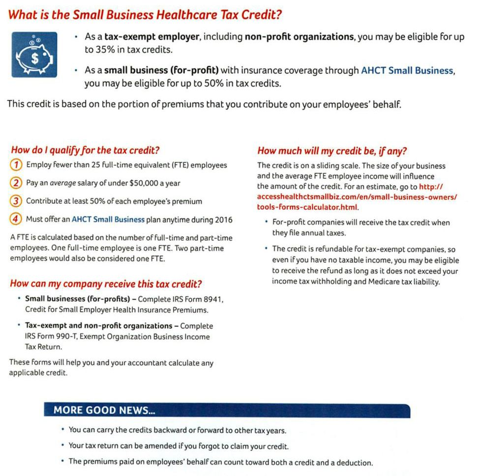 What is the Small Business Healthcare Tax Credit?